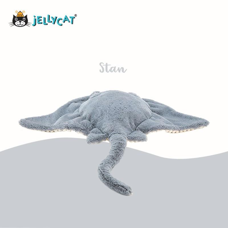 Stan peluche raie manta de jellycat - vue de dos
