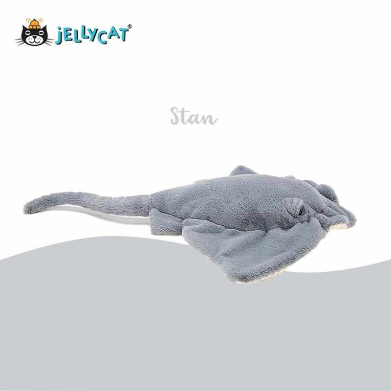 Stan peluche raie manta de jellycat - vue de côté