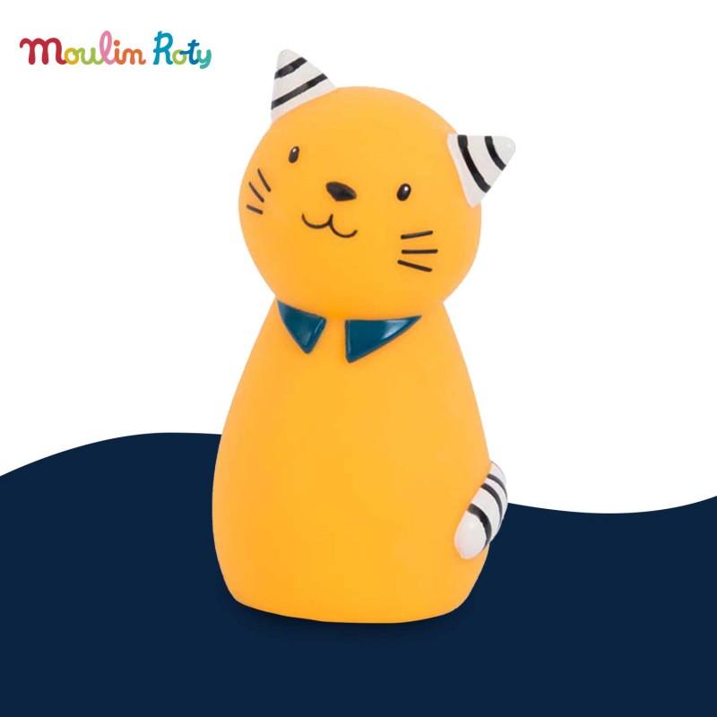 """Veilleuse chat Lulu """"Les Moustaches"""" USB de Moulin Roty"""