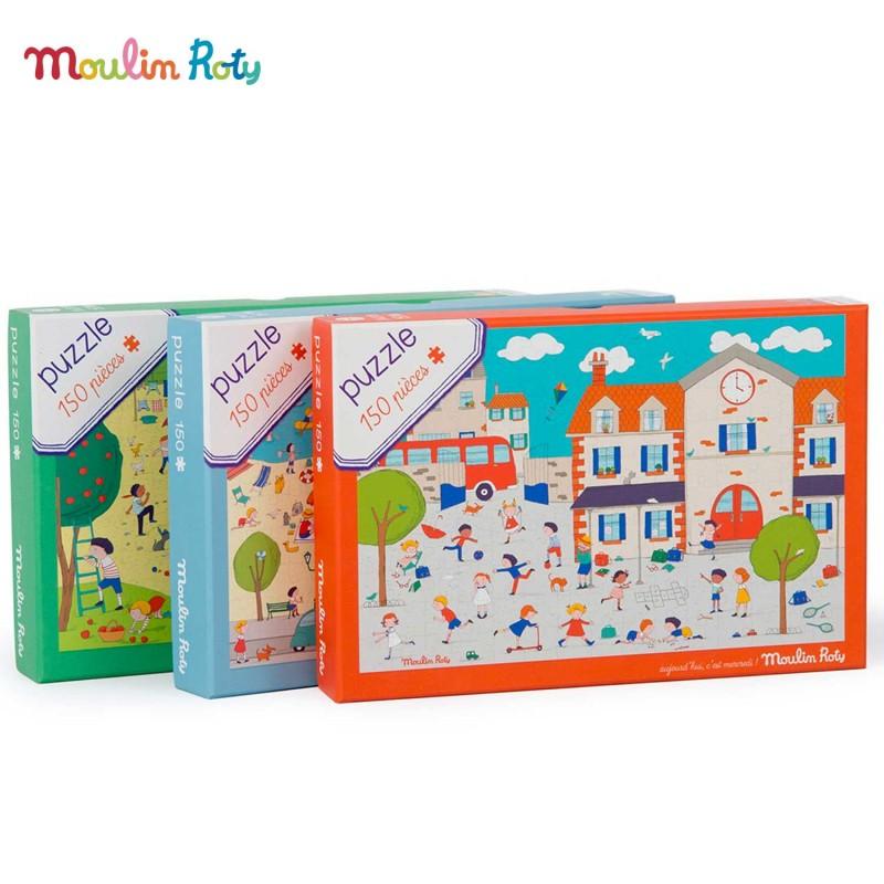 Puzzles 150 pièces Aujourd'hui c'est mercredi de Moulin Roty