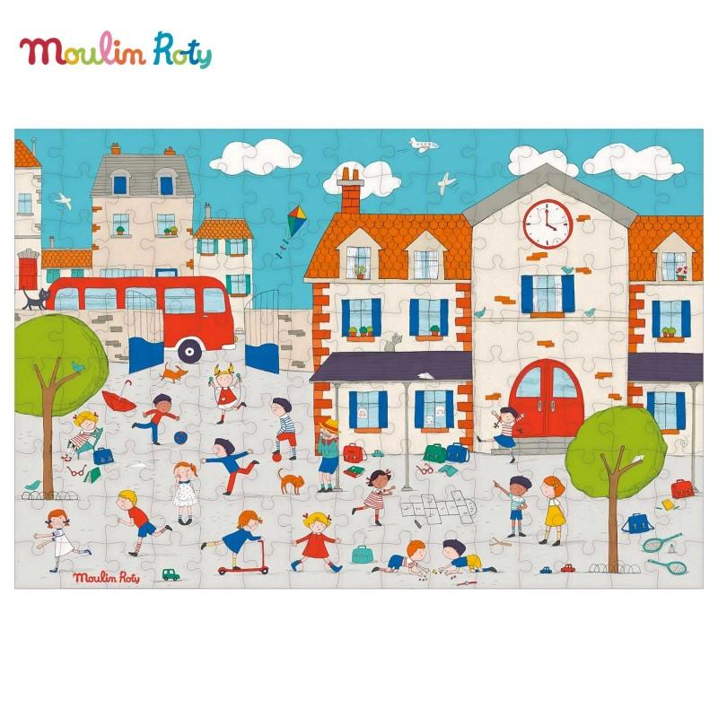 Puzzle A la récré 150 pièces de Moulin Roty