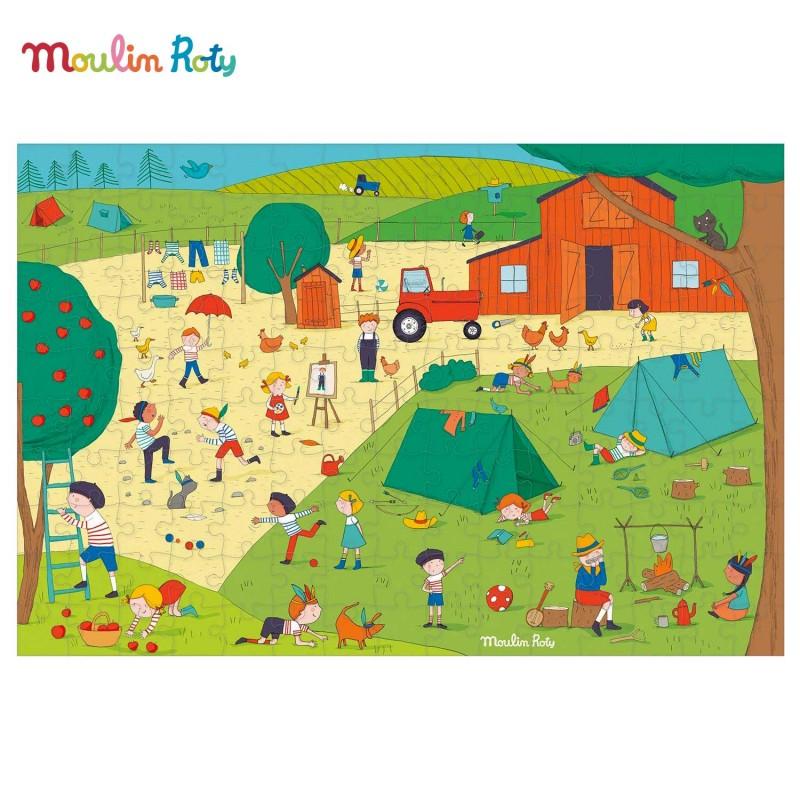 Puzzle A la campagne 150 pièces de Moulin Roty