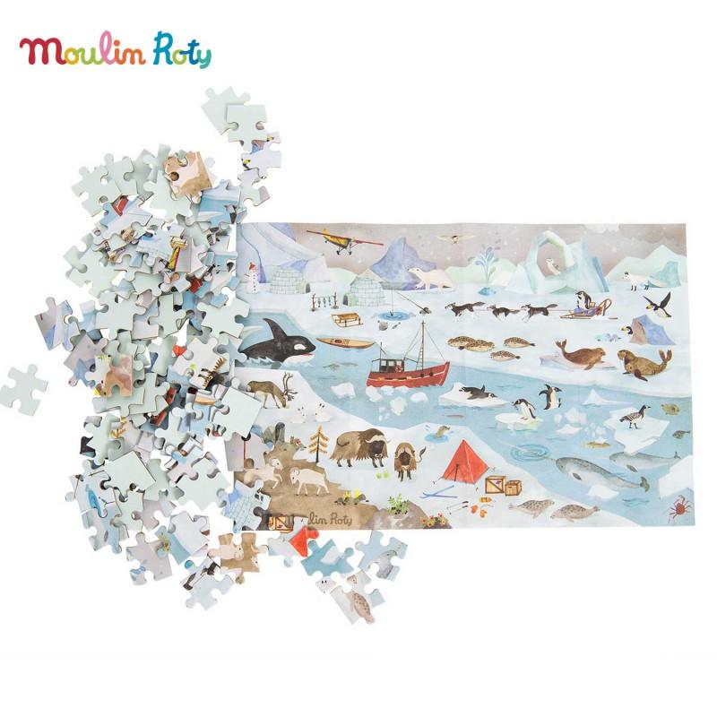 Puzzle la banquise - Puzzle de l'Explorateur Le jardin du Moulin de Moulin Roty  - Mise en scène