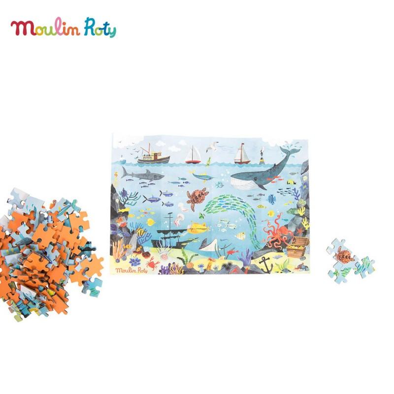 L'Océan Puzzle de l'Explorateur de Moulin Roty - Mise en scène
