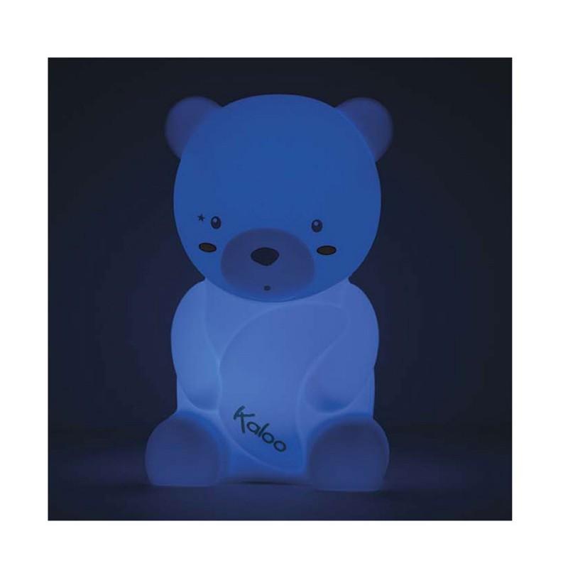 veilleuse Ours en silicone tactile - bleu
