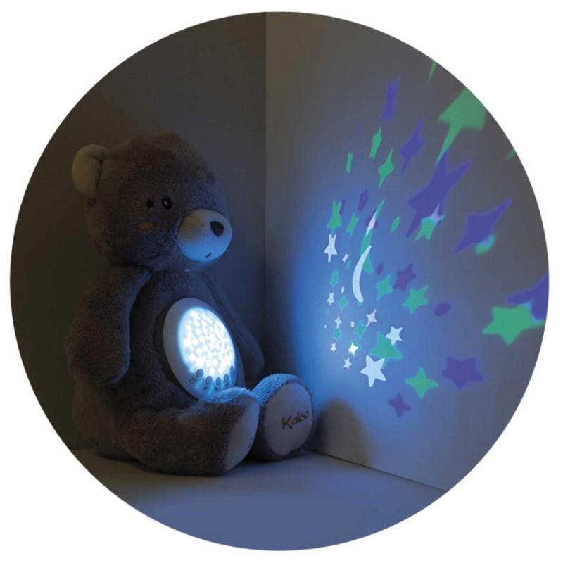 Veilleuse à projection étoiles ourson peluche de Kaloo - vue côté 1