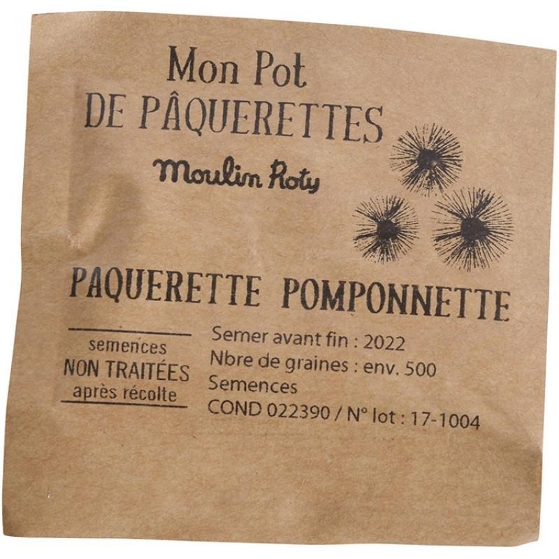 Pot de graines Pâquerettes Le Jardin du Moulin - informations