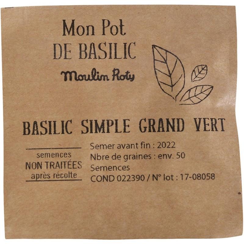 Pot de graines Basilic Le Jardin du Moulin - Informations