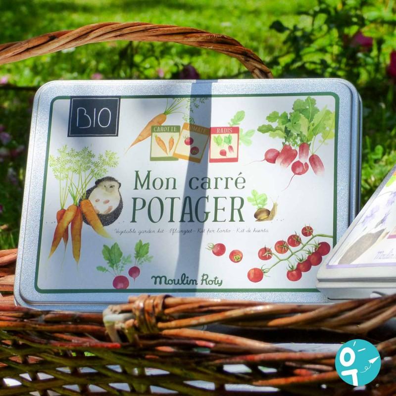 Kit potager BIO Le Jardin du Moulin mise en scène jardin
