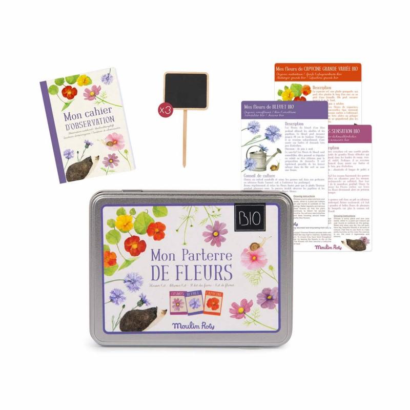 Kit parterre de fleurs BIO Le Jardin du Moulin - Contenu de la boite