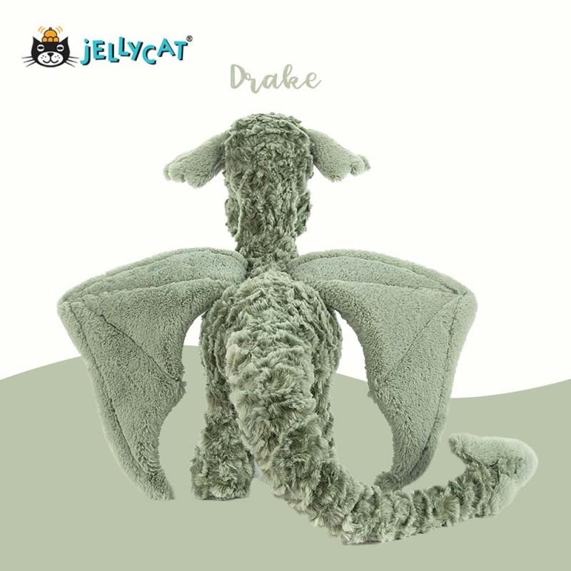 Peluche dragon Drake jellycat - vue de dos
