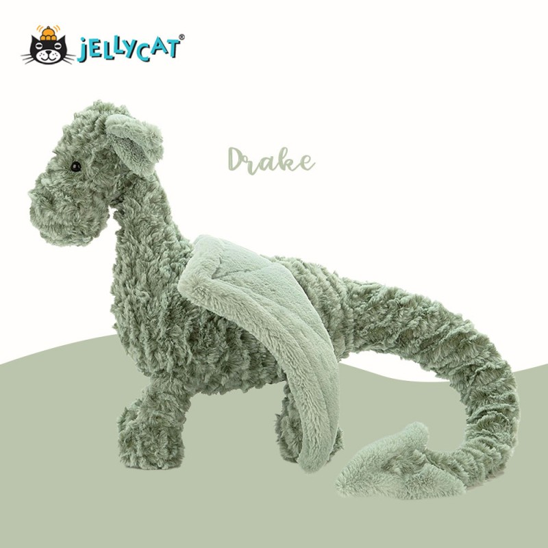 Peluche dragon Drake jellycat - vue de côté