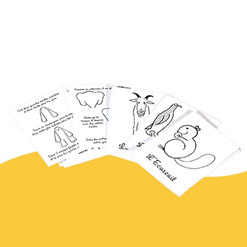 J'apprends à dessiner les animaux de Marc Vidal les cartes