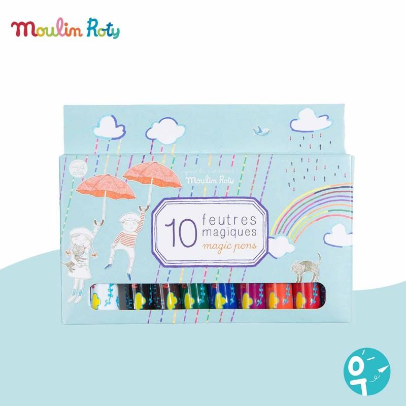 Boîte 10 feutres magiques Moulin Roty