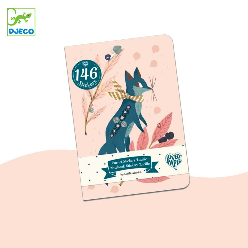 Carnet stickers Lucille Lovely paper Djeco