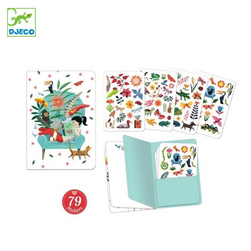 Contenu du carnet stickers Sarah de Djeco