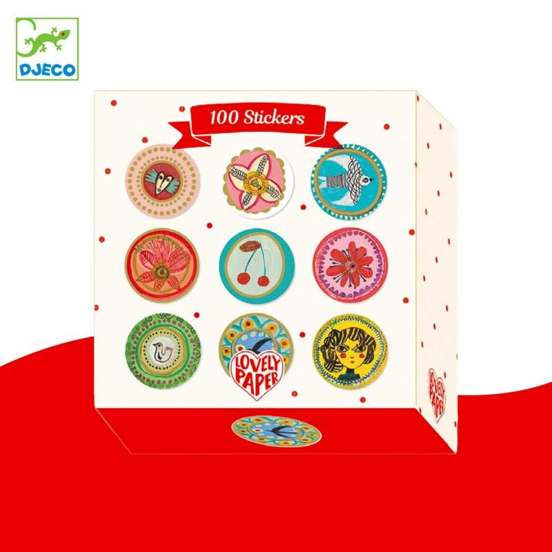 Boite de 100 stickers par Aurélia Fronty Djeco