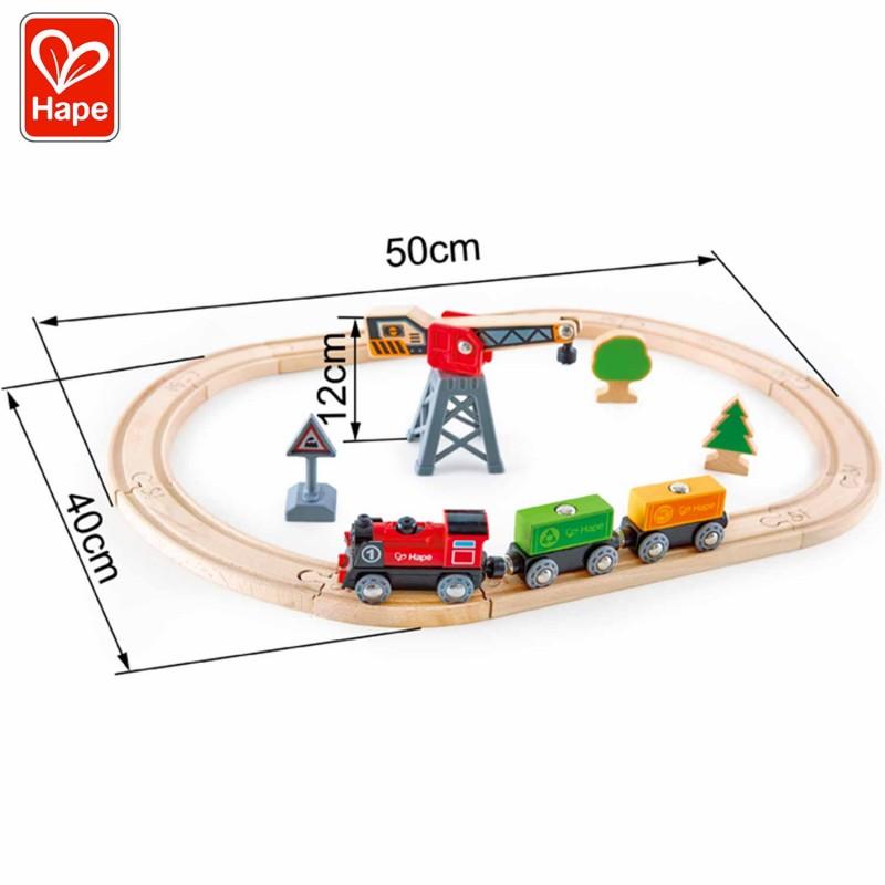 Dimensions du circuit du train : 39 x 8 x 30 cm