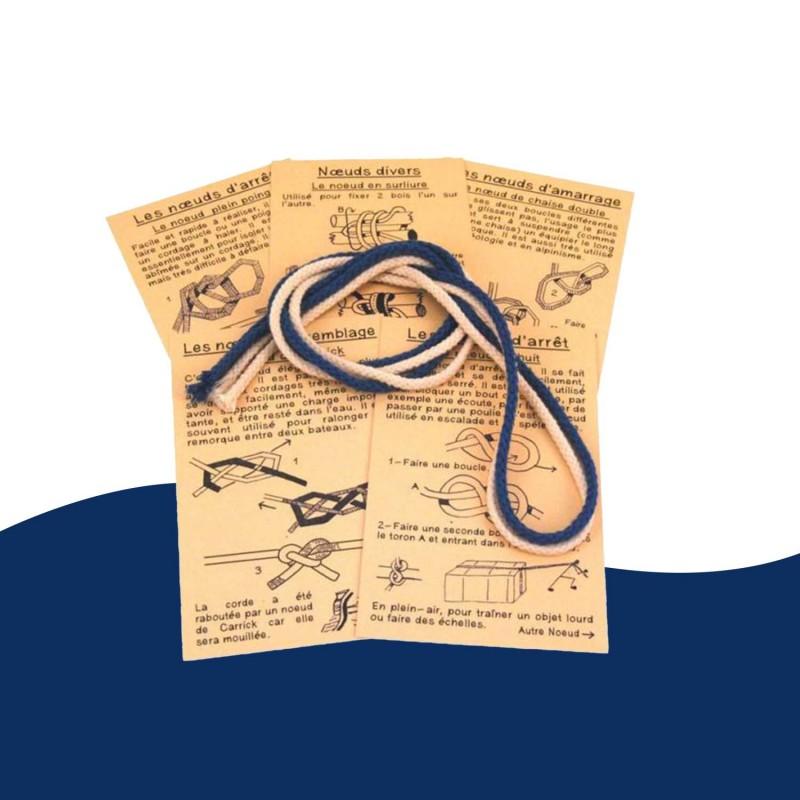 Matelotage jeu éducatif pour apprendre les noeuds marins.