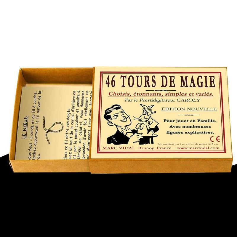 46 tours de magie dans une boite vintage Marc Vidal