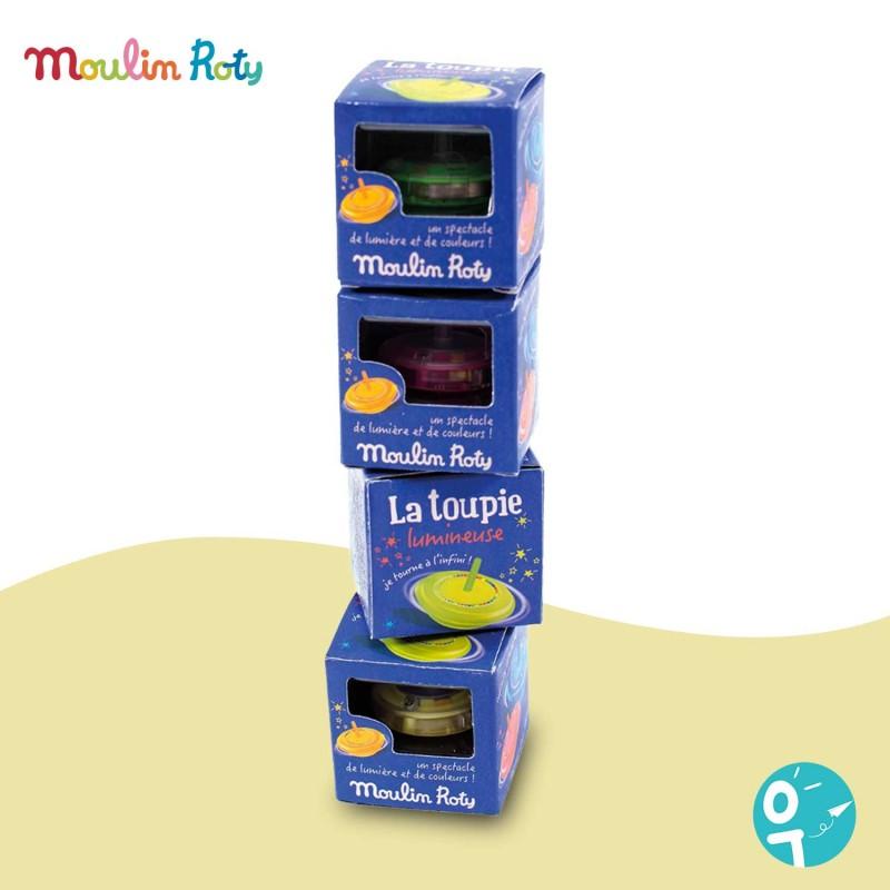Avec cette jolie toupie lumineuse de Moulin Roty vous surprendrez votre enfant !
