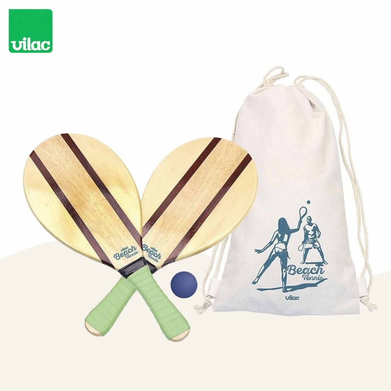 Set raquettes de plage vintage par Vilac