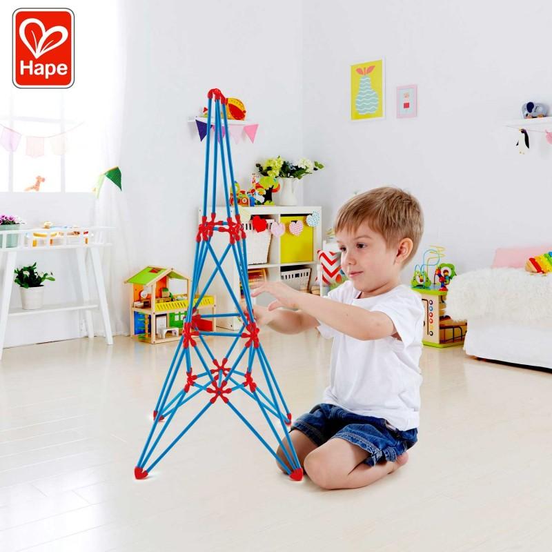 Flexistix Tour Eiffel - Les monuments célèbres Hape - Mise en scène garçon