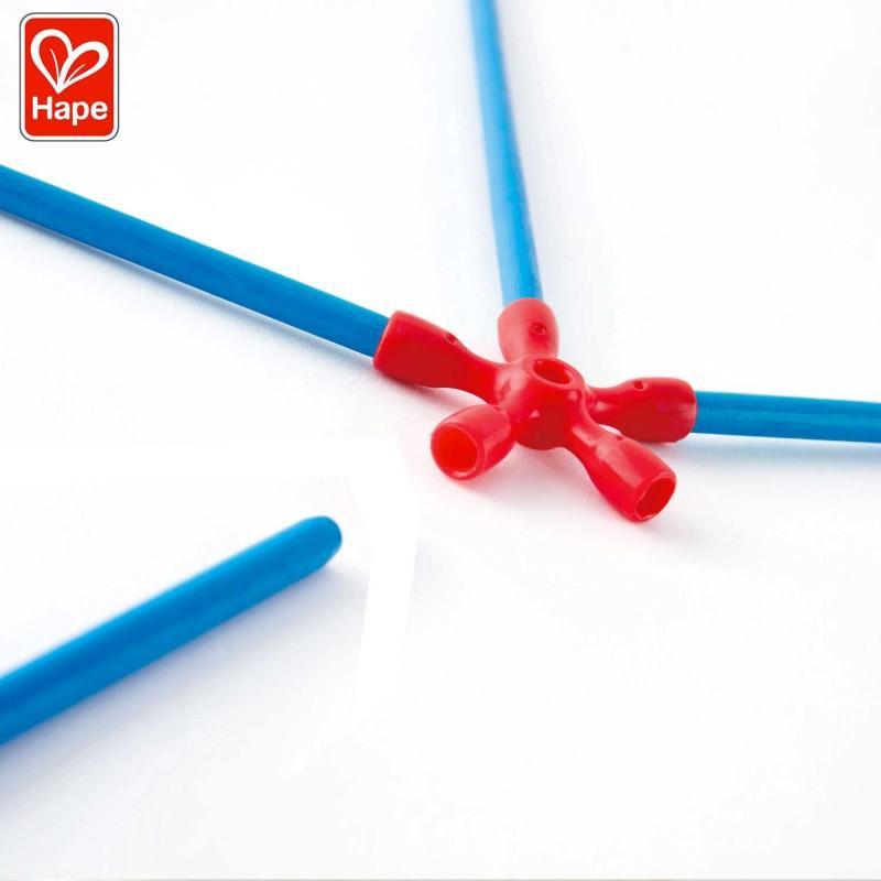 Utilisez les bâtonnets en bambou et les connecteurs flexible