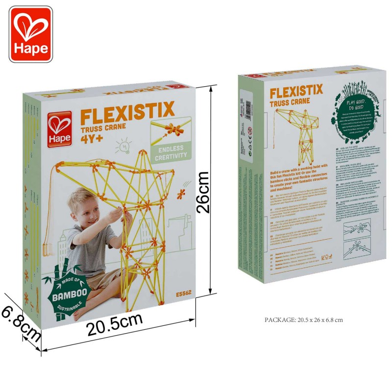 Grue à treillis Flexistix E5562 - Les dimensions