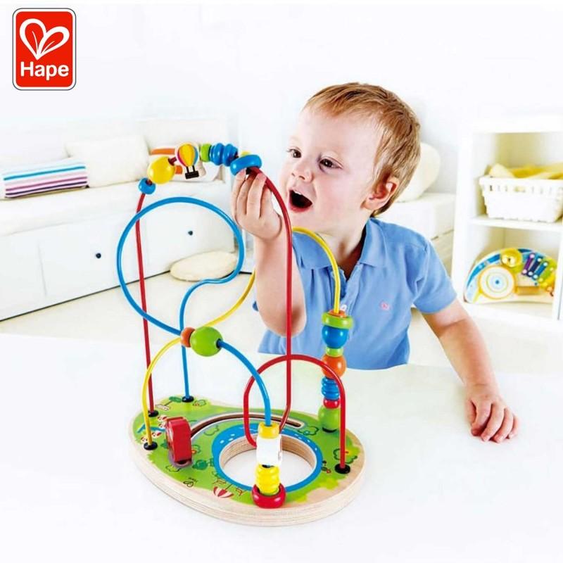 Circuit de perles en bois pour les enfants