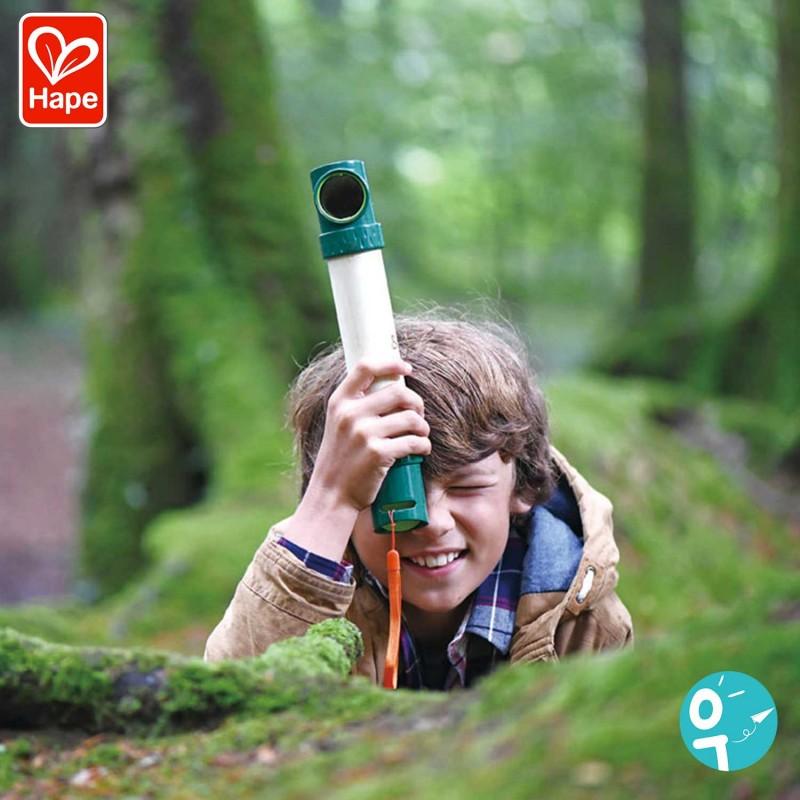 Périscope cache-cache en bambou pour les enfants - Mise en scène garçon