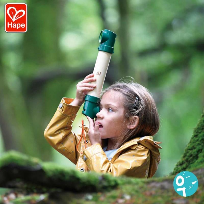 Périscope cache-cache en bambou pour les enfants - Mise en scène fille
