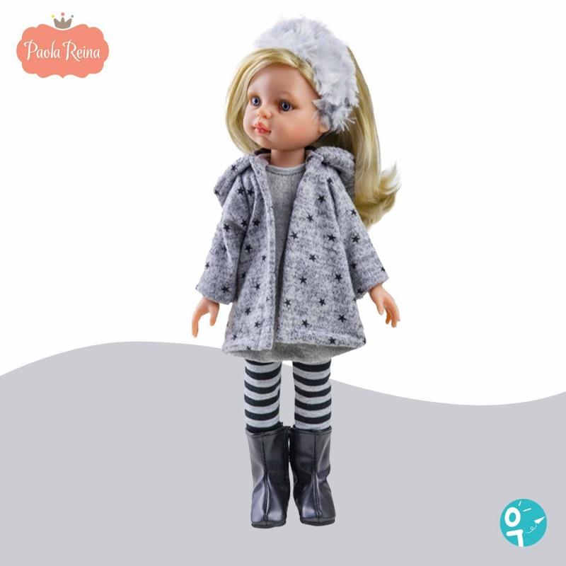 Poupée Claudia tenue hiver grise Paola Reina