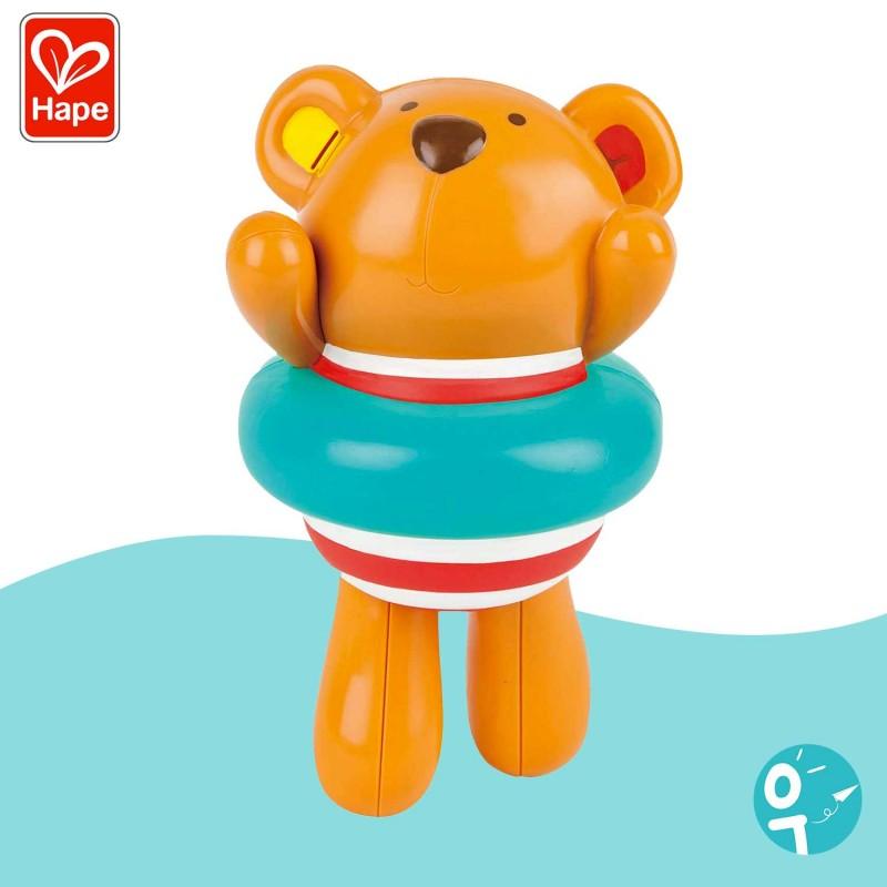 Teddy et sa bouée pour le bain Hape