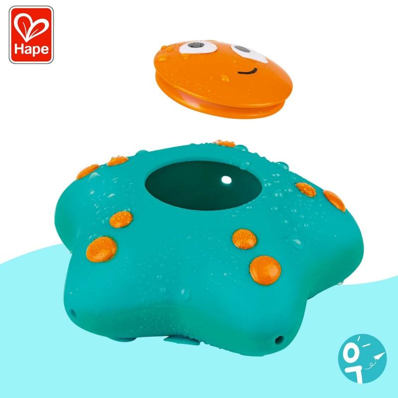 Remplis-les d'eau et appuie dessus pour la faire jaillir. Un jeu d'eau idéal pour le bain !