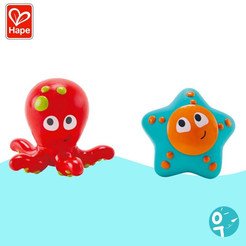 Aspergeurs Les amis du bassin Hape : pieuvre et étoile de mer