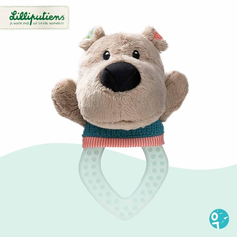Hochet de dentition Cesar l'ours Lilliputiens