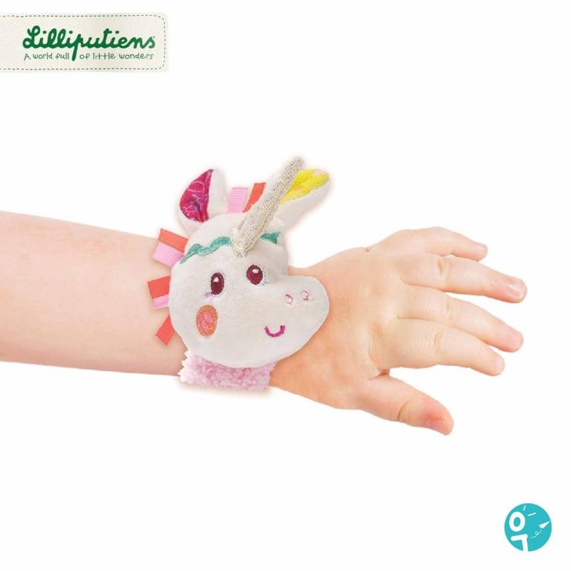 Hochet bracelet licorne avec scratch