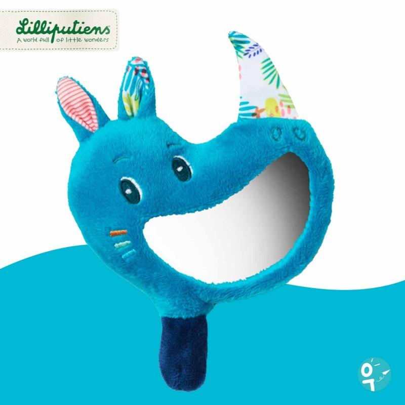 Marius le rhinocéros hochet miroir Lilliputiens