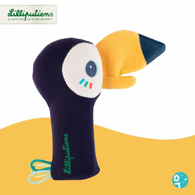 Hochet pouet-pouet Pablo le toucan Lilliputiens