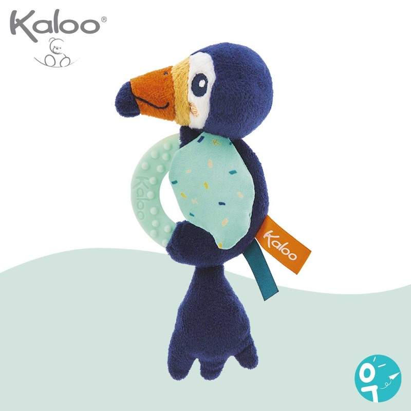 Hochet de dentition Alban le toucan Kaloo