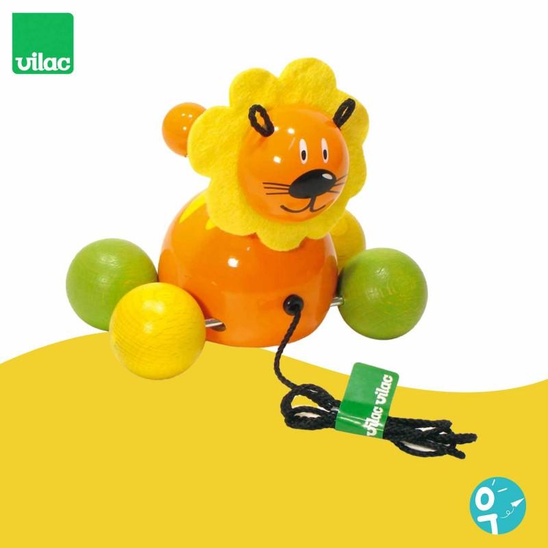 Jouet à traîner baby Gaston le lion