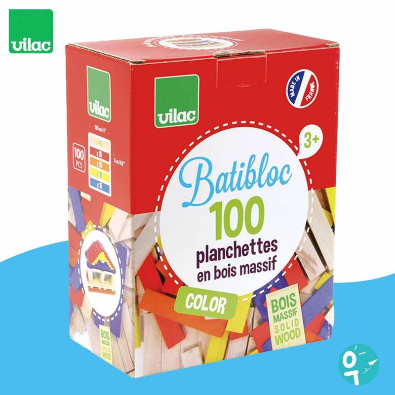 Batibloc couleur 100 planchettes en bois