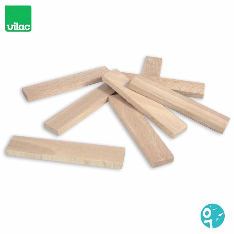 100 planchettes en bois hêtre massif