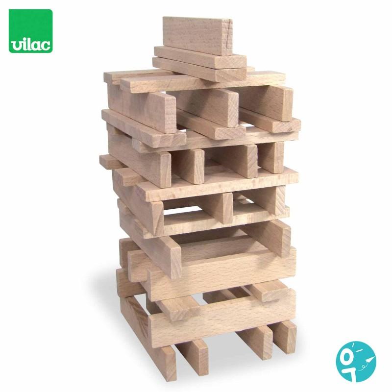 Batibloc classique 100 planchettes en bois - Jeu de construction