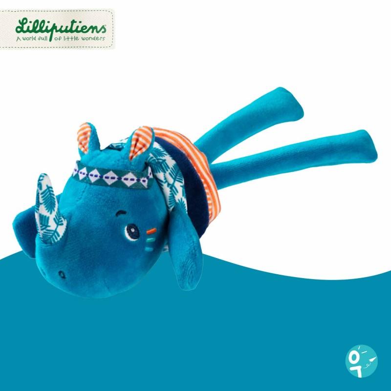 Peluche vibrante Marius le rhinocéros mini-dansant Lilliputiens LI83170