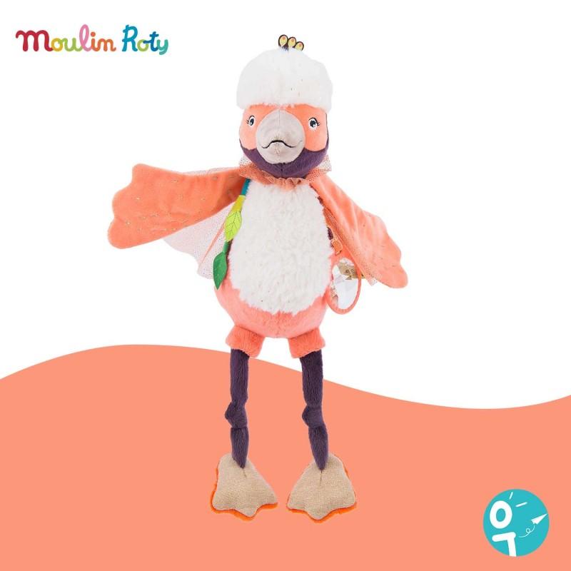 Paloma l'oiseau Peluche d'activités Dans la jungle Moulin Roty 668022