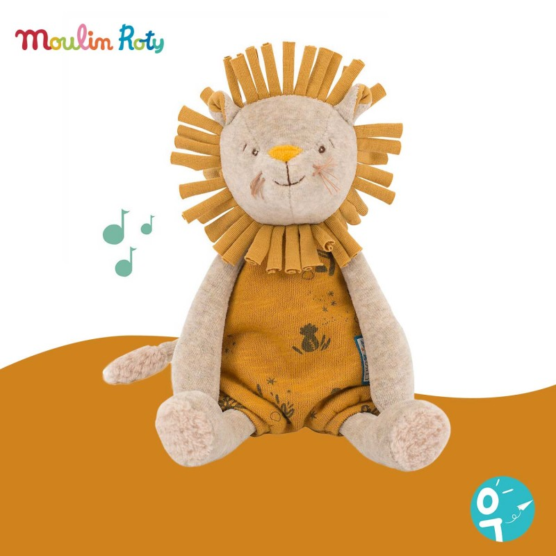 Peluche musicale Lion Sous mon baobab Moulin Roty 669041