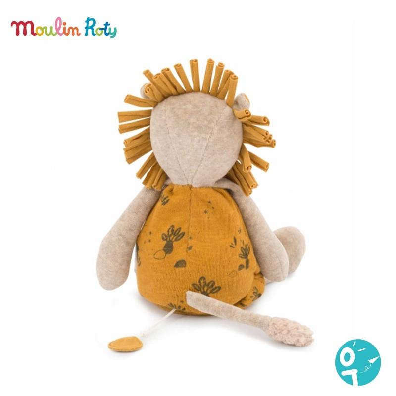 Peluche musicale Lion Sous mon baobab Moulin Roty - vue de dos