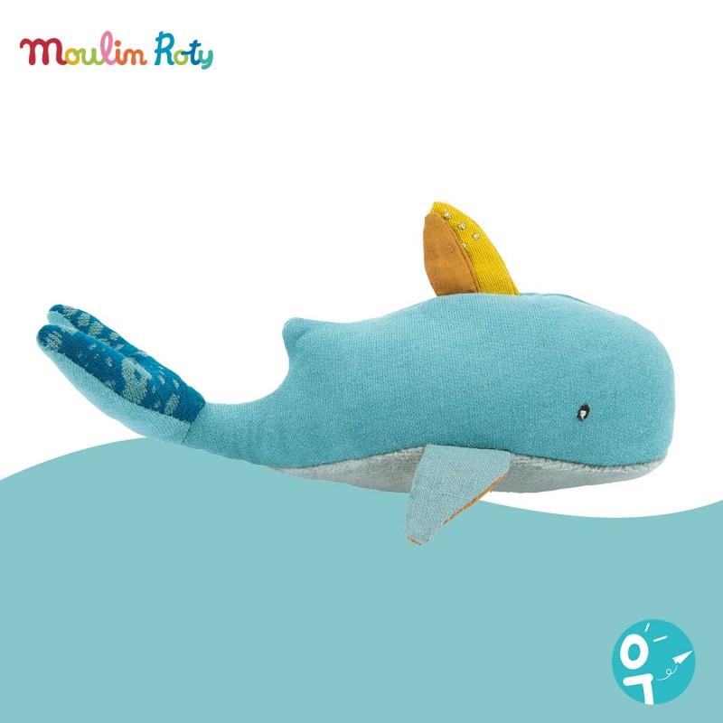 Hochet baleine Le Voyage d'Olga Moulin Roty